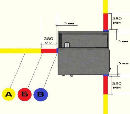 Чертеж каркаса термоизоляционной разделки из металлического профиля