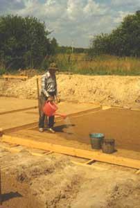 Увлажнение бетонной смеси