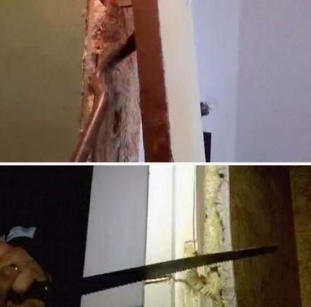 Демонтаж деревянной дверной коробки