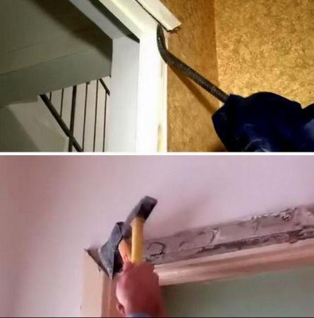 Демонтаж дверных наличников