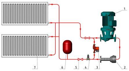 Принципиальная схема выбранного нами  теплогенератора