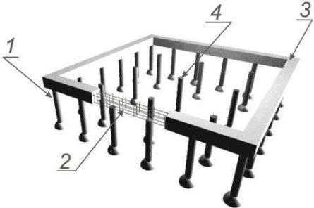 Конструкция фундамента ТИСЭ