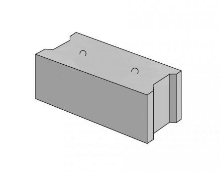 Монолитный фундаментный блок для устройства сборного ленточного фундамента