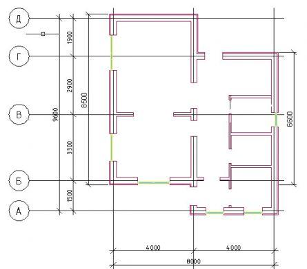 План 1этажа