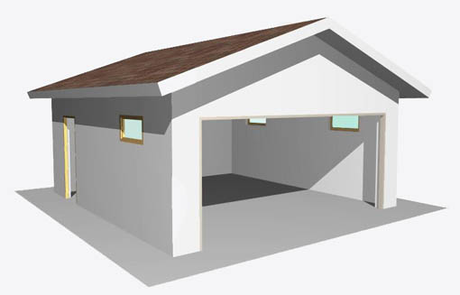 Учитывая гибкость технологии, можно леОООо вписать Ваш гараж в общий стиль участка.