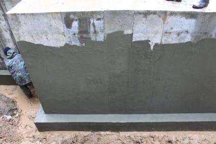Гидроизоляция цементным раствором