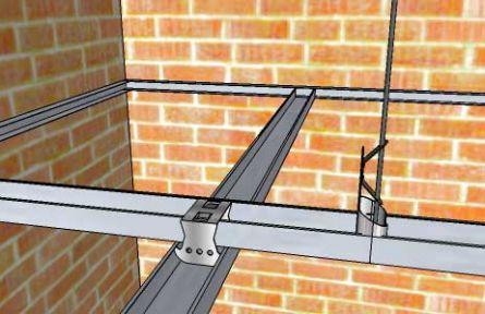 Монтаж профилей для гипсокартона потолок