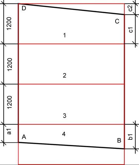 Схема как разметить лист гипсокартона