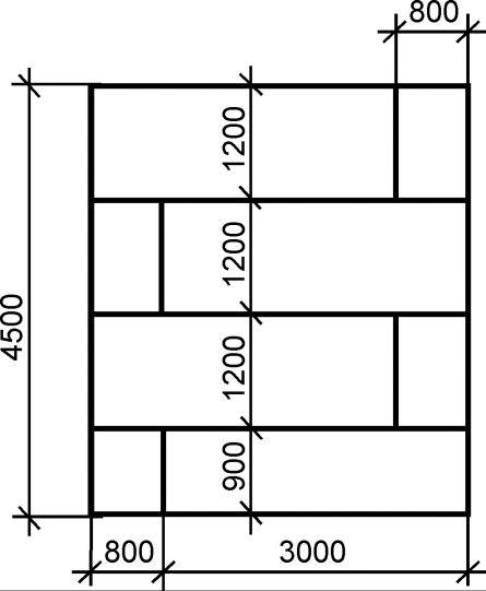 Схема размещения листов гипсокартона на потолке