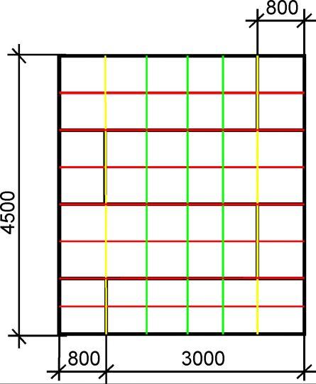 расположение профилей для гипсокартона на потолке схема, илюстрация