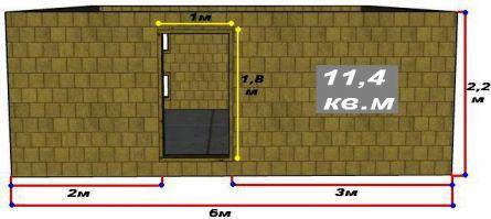 Стены хозблока