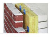 Крепление утеплителя и стенки из шлакоблока.