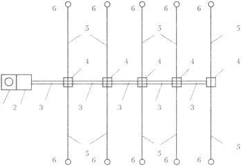 Система оросительного трубопровода на поле фильтрации