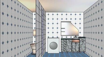 Туалетная комната без ванны