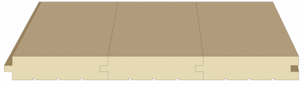 Шпунтованная доска. Соединение в прямоугольный шпунт (шип-паз).