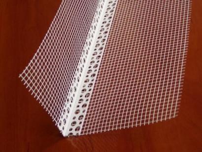 Фасадный уголок с сеткой для штукатурки