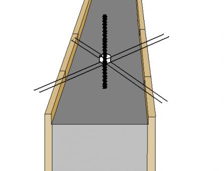 Заладка анкеров (шпилек) до начала бетонирования