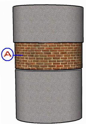 Заделка пространства между колец