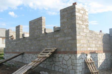 Стены без перекрытия