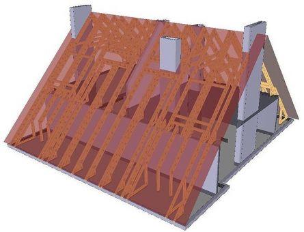 Конструкция мансардной крыши дома - Принципиальные схемы.