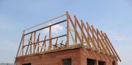 ломанная крыша - монтаж нижней стропильной секции