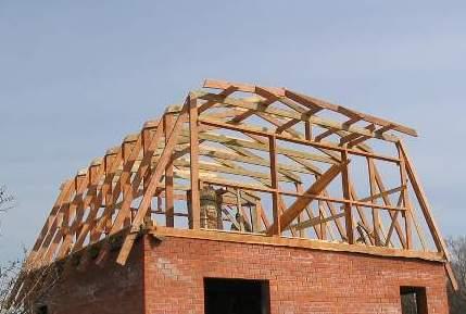 ломанная крыша - монтаж верхней стропильной секции