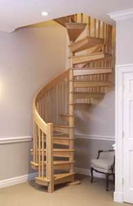 Винтовая лестница без подступенников