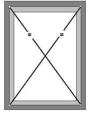 вертикальность и горизонтальность рамы