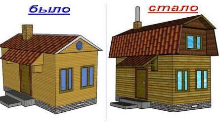 Дом до реконструкции и после - сревнение