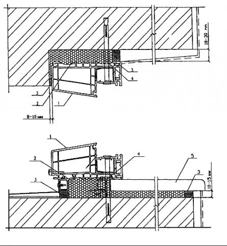 Рисунок Г.1 - Пример монтажного узла оконного блока