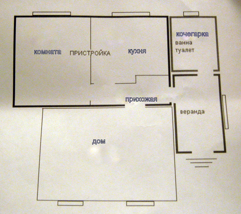 Проект пристроек к дому и их схема