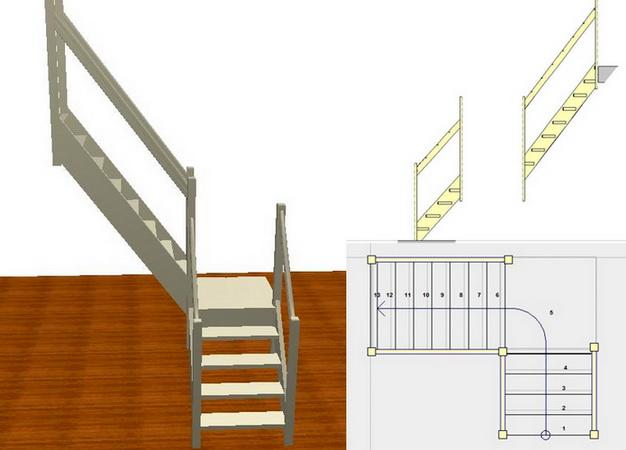 Загородка для лестницы своими руками