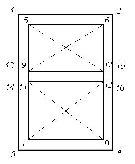 разметка ростверка для внутренней стены