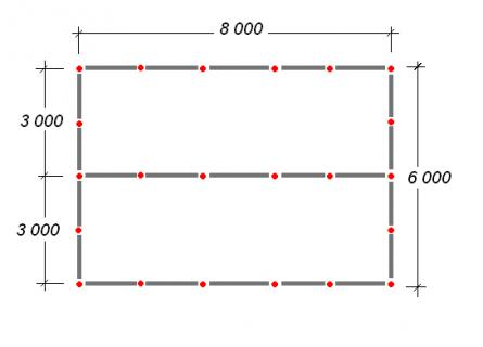 схема расположения столбов