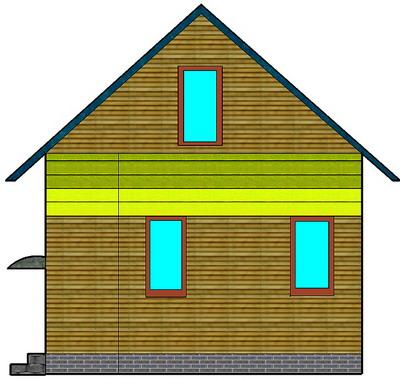 Рубленая терраса под общей крышей с домом
