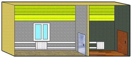 Стены комнат свободны от мебели