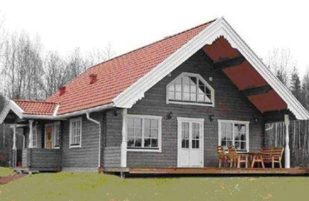 Скандинавский стиль-фасад
