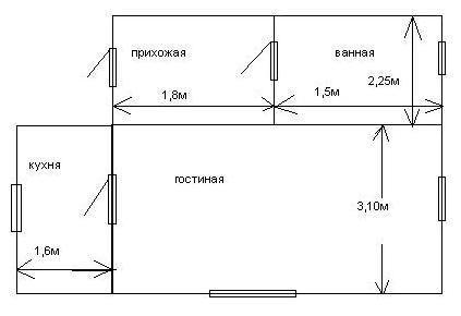 Пример плана с размерами.