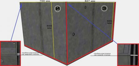 Установка лицевых стенок печки-каменки