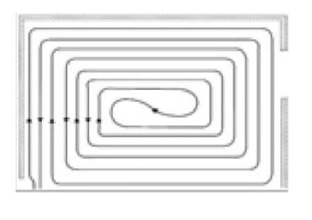 Схема укладки теплого пола спиралью