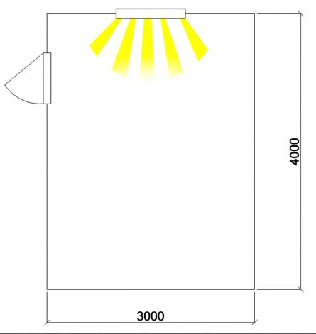 Помещение с внутренними размерами 3,0 х 4,0 м