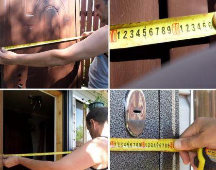 Замер ширины дверной коробки и дверного проема