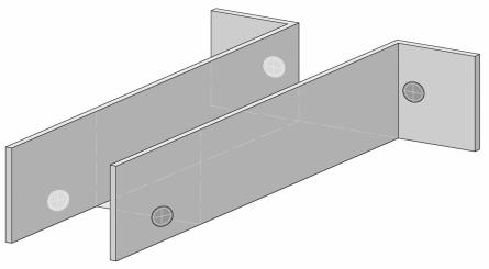 места крепежа на самодельном элементе