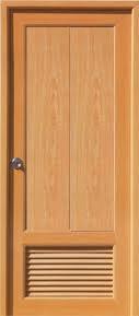 Дверь с переточной решеткой