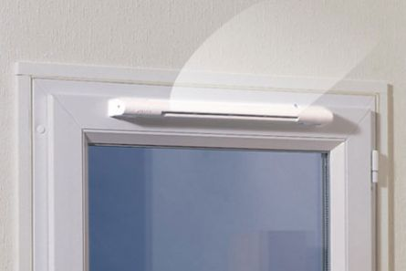 Окно с приточным клапаном