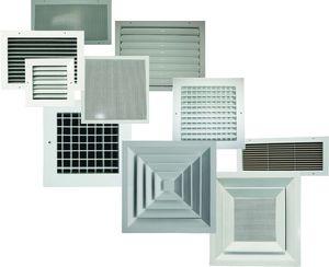 Различные виды вентиляционных решеток