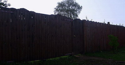 Ворота и калитка - общий план