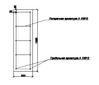 Армирование ленточного фундамента 320 мм