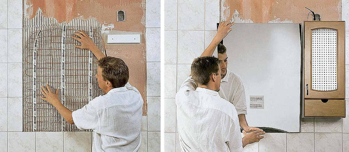 Как сделать подогрев зеркала в ванную